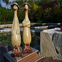 Decoured Garden Villa Courtyard Garden Rockery Pool Decoration Crafts Nordic Super Q Ceramic Animal Duck Duck Ornaments Hat A Pair Of Long 8 Wide And 8 High 25Cm