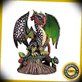 KARPP Pacific Giftware BlackBerry Garden Dragon by Stanley Morrison Home Decor Statue Perfect Indoor Collectible Figurines
