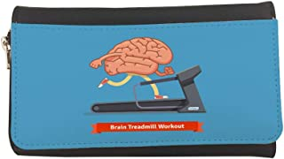 brain treadmill workout Printed Leather Case Wallet