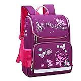 AIni Kinder Rucksack Mädchen Mode große Kapazität Wasserdicht und Lastreduzierend Karikatur Kinder Rucksack Rucksäck Kinderrucksäcke Lila-A