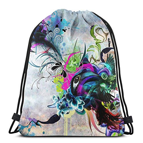 Streaming Eyes Drstring Backpack Gym Sack Pack Solid Cinch Pack Sinch Sack Sport String Bag