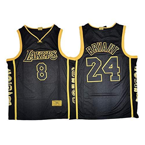 OKMJ Kobe Jerseys – Lakers # 24 +# 8 – Camiseta de baloncesto para hombre, color negro, para conmemorar el chaleco retro, regalo S-XXL A-L