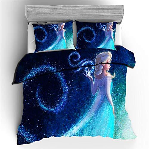 Bolat Elsa & Anna - Juego de ropa de cama infantil (microfibra, 135 x 200 cm)