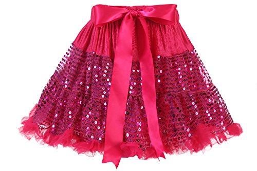 Inpar Girls Sequined Tutu Kids Birthday Princess Party Favor Dress Skirt Set IN014