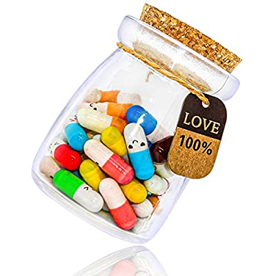 KBFUSHI Capsule Letters Message in a Bottle - Love Letter for Valentine's Day, Birthday - Cute Things Gifts for Boyfriend/Girlfriend (Mixed Color 50pcs)