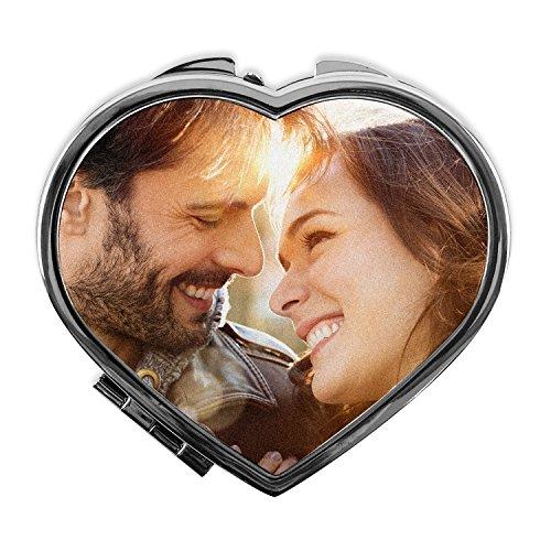 Espejo corazón Personalizado con tu Foto, diseño o Texto, Original y Exclusivo. Regalo para Enamorados. Regalo con Amor. Varias Formas