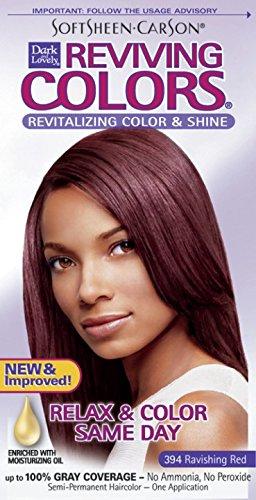 Dark and Lovely Coloration capillaire Reviving - Enrichie en huiles hydratantes - Couleur 394 - Rouge sublime