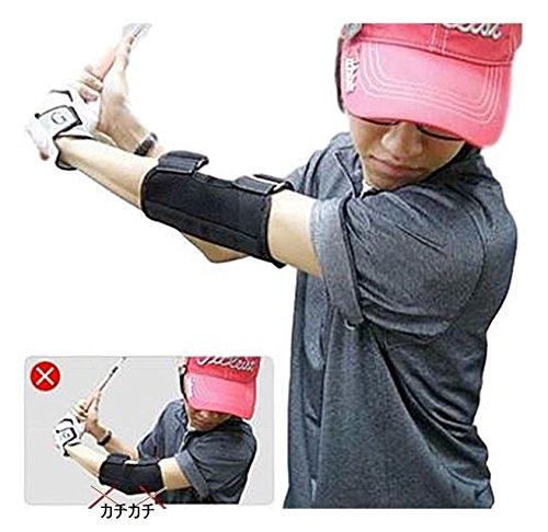 ゴルフ スイング 練習 器具 アームチェッカー トレーニング ブレース 矯正 ストレート ゴルフ肘 ブレース 矯正サポート