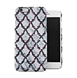DODOX Gray Marble with Red Moroccan Marble Texture Case Compatible with Apple iPhone 6 / iPhone 6S Snap-On Hard Plastic Protective Shell Cover Carcasa