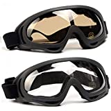 Simplicity Style --- Impact-resistant flexible TPU frame with clear and sturdy PC lens, plus soft sponge and adjustable headband make up this simple style of goggles. Simple and Effective Ventilation Design -- Using the principle of air circulation, ...