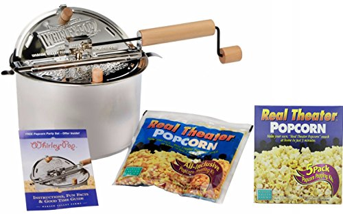 Wabash Valley Farms Stovetop Popcorn Popper w/Popping Kit & 5 Pack Popcorn