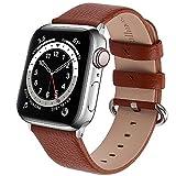 Fullmosa kompatibel mit Apple Watch Armband 41mm 40mm 38mm, Lederband Ersatzband für Damen Herren,...