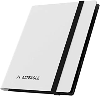 Alteagle 4 Pocket Trading Card Binder, 160 Side Loading Pocket Album for Yugioh, MTG and Other TCG (White)