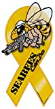 Crazy Sticker Guy Ribbon Shaped Magnet - Seabees - United States Navy Construction Battalion - Sea Bees CB - 8' x 3.75'