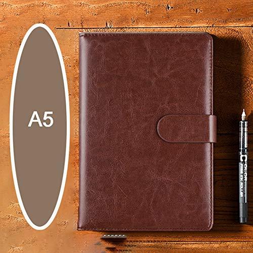 WXWXYS 1 A5 Nachahmung Pu Leder High-End-Agenda Businessplan Buch Tagebuch Jahrbuch Ordner Notizbuch Tagebuch Bibel Notizbuch Geschenk, Kaffee, A5