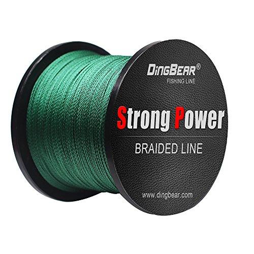 Dingbear 109Yd / 100m 135LB / 0.60mm dunkelgrün Super Strong Pull Generic Geflochtene Angelschnur Kite Schnur Woven Network Cable Cast Super Strength Angelschnur …