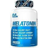 Evlution Nutrition Melatonin, 5mg of High Potency Melatonin in Each Tablet, Sleep Support, Fall Asleep Fast, Stay Asleep Longer, Premium Sleep Aid, Vegan, Gluten-Free (100 Tablets)