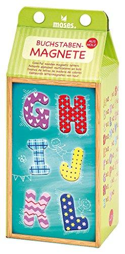Moses. 37522 Buchstaben-Magnete | 40 extragroße Buchstabenmagnete aus Holz im Set