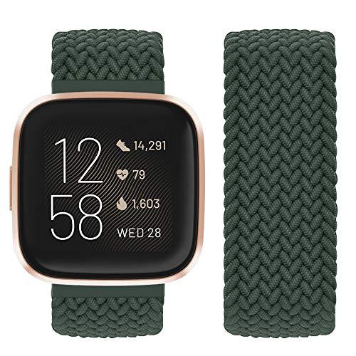 Vozehui Compatible con correa Fitbit Versa/Fitbit Versa 2, correa elástica y transpirable de nailon suave para Fitbit Versa 2/Fitbit Versa/Versa Lite, mujeres y hombres