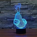 Nachtlicht Bluetooth LED Lampe 3D LED Schlaflampe Cartoon Schneckenform USB Tischlampe für Kinder Schlafzimmer Schlafen Home Party Dekoration