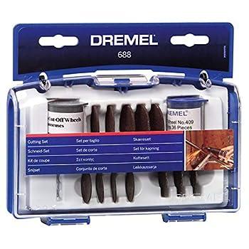 Dremel 688-01 69-Piece Rotary Tool Accessory Cutting Disc Kit Black