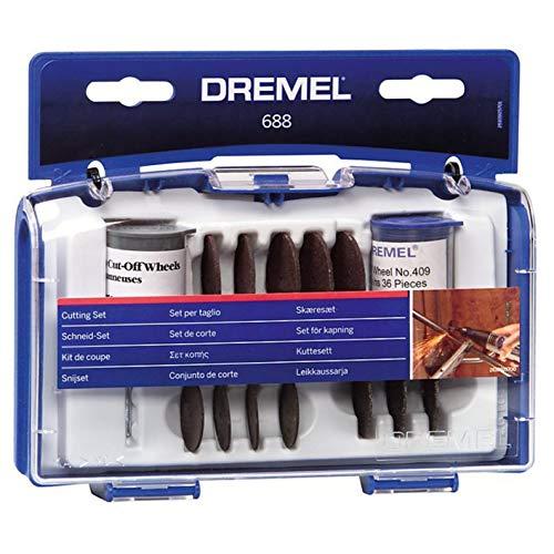 Dremel 688-01 69-Piece Rotary Tool Accessory Cutting Disc Kit, Black