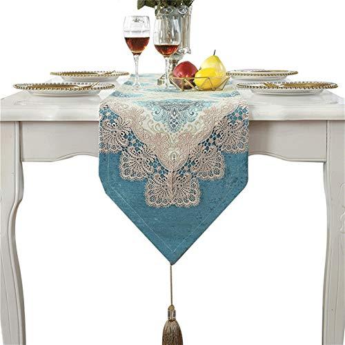 YYQIANG Mantel de bordado de flor de encaje hueco, nuevo Corredor de cordón chino Tabla de mesa de tapa de mesa T T Tv Cama Bandera Té, tela de mesa de mesa Adecuado para fiesta de boda de fiesta deco