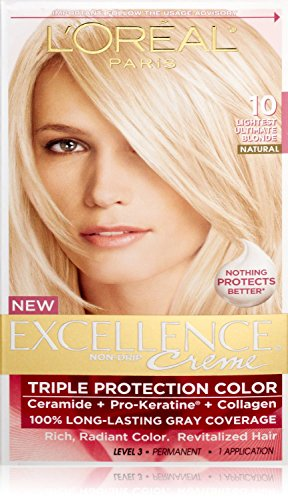 L'Oreal Excellence Creme Haircolor, Lightest Ultimate Blonde 10 1 ea