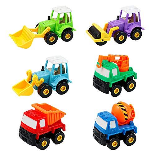 Camion Giocattolo Macchine Bambini Giochi del Veicoli Auto per Bambini 3 Anni, 6 Pezzi