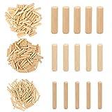 TGFIX 300 pezzi tassello in legno 8mm 6mm 10mm, perno in legno, spine legno di faggio per guida trapano jig mobili carpenteria fai da te