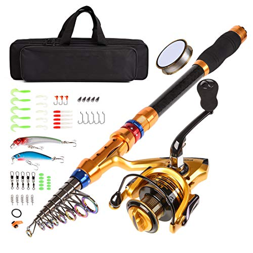 CLORIS Fishing Rod and Reel Combo Saltwater Freshwater-12 FT Carbon...