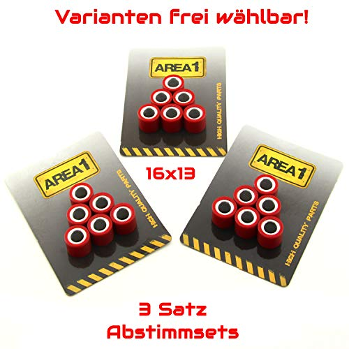 Variogewichte Variorollen 16x13 3er Abstimmset Variomatik Gewichte (8,0/8,5/9,0 Gramm)