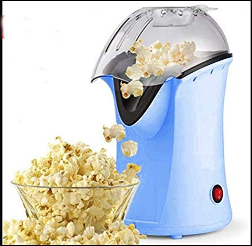 Hot Air Popcorn Maker,Popcorn Machine,Popcorn Popper 1200W,No Oil Needed, Including Measuring Cup and Removable Lid (Blue)