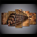 Henypt Fünf Wandbilder Leinwanddrucke Weinkeller Poster