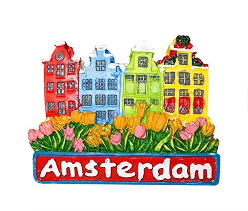 zamonji Tulipán de Amsterdam, Holanda/Países Bajos, Recuerdo Turístico 3D Imán Refrigerador de Resina