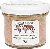 BIOPUR 12er-Set Bio Katzenfutter Schaf, Reis im Glas! 100g
