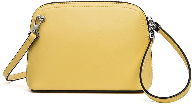 HMILY high Quality Leather Ladies Shoulder Messenger Bag Fashion Handbag H7016 Yellow