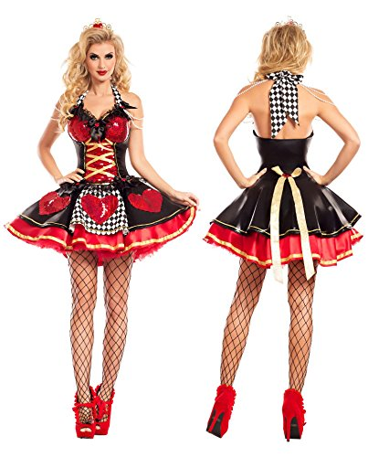 Party King Women's Off with their Heads Queen of Hearts Costume (Large)