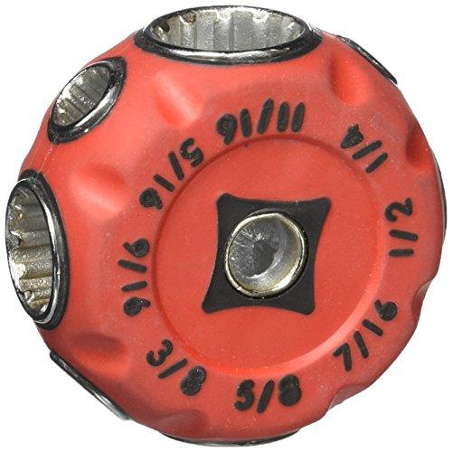 TruePower 02–2517Puck Llave 12Punto Common multifunción llave de llave grip, Rojo