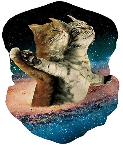 Loveternal Titanic Katze Outdoor Funktionstücher Halstuch Multifunktionstuch Nahtloses Kopftuch,Schlauchtuch,Schal,Stirnband, Bikertuch,Unisex,Schnelltrocknend Winddicht für Staub, im Freien, Sport