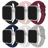 Correa Apple Watch, Correa Compatible con Apple Watch 44 mm 38 mm 42 mm 40 mm, Correa de Repuesto Deportiva de Silicona Suave Ultrafina de Adecuada para Apple Watch SE/iWatch Series 6 5 4 3 2 1