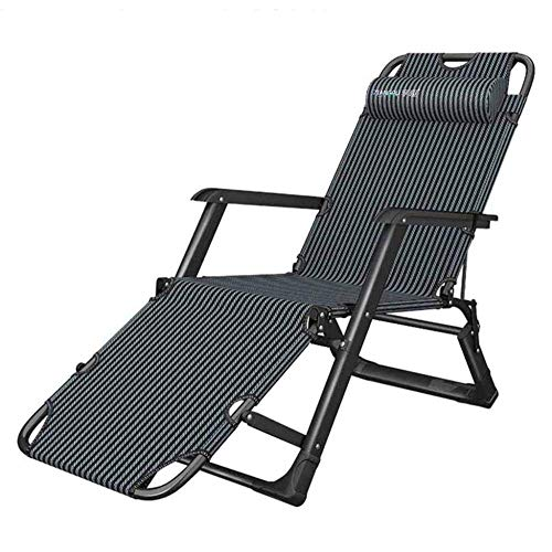 WJJJ Silla reclinable Cero Gravity Sillas Sillas de salón relajantes Terraza Cubierta Jardín portátil Regla Azul portátil Ajustable
