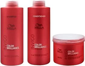 Kit Shampoo Condicionador E Máscara Wella Collor Brilliance