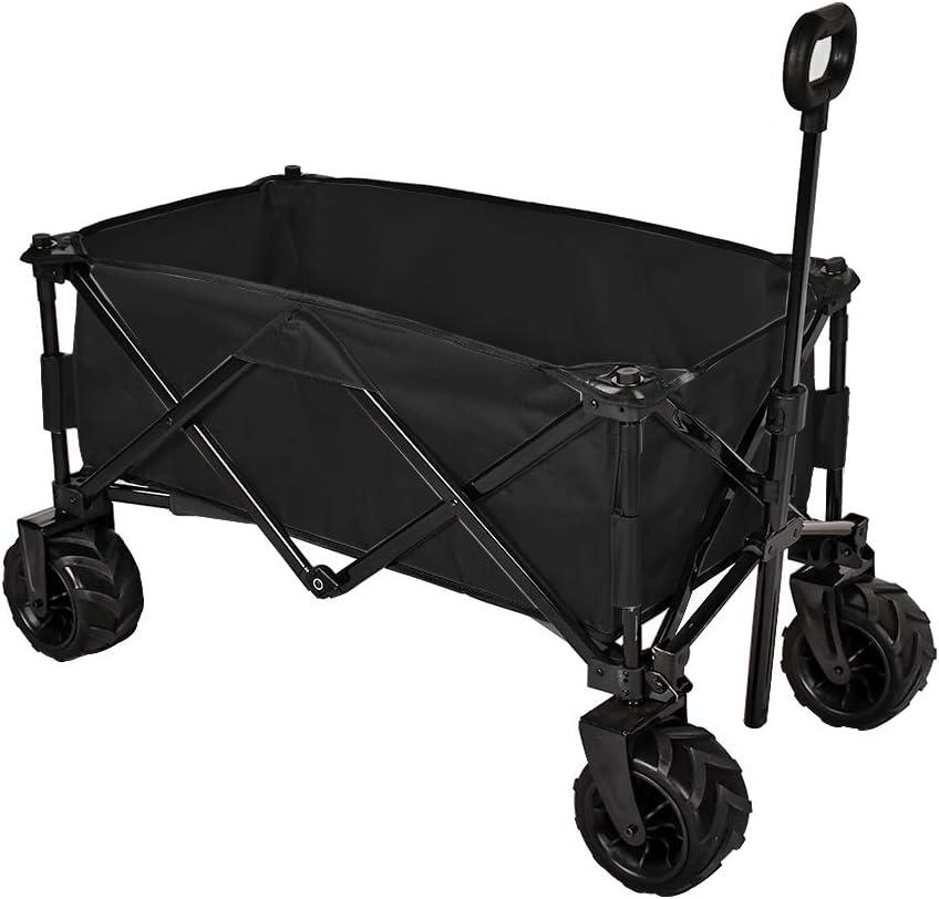 MAGIC UNION Mail order cheap Folding Wagon Collapsible Wheels Big Max 43% OFF Shoppin Utility