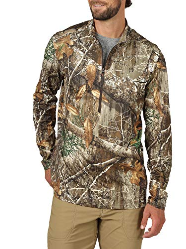 ATG by Wrangler Men's 1/2 Zip Pullover Shirt, Realtree Edge, XLT