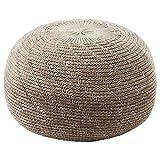 BestOnlineDeals01 Sitzsack Sandared, beige, 45 cm, strapazierfähig und pflegeleicht Fußhocker aus Stoff Fußhocker und Sitzhocker. Sofas & Sessel Möbel Umweltfreundlich.