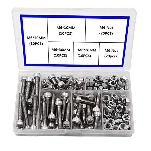 M6 Innensechskantschraube 304 Edelstahl Sechskantschraube Kopf Mechanische Teile Bolzen und Mutter Kombinationsbox