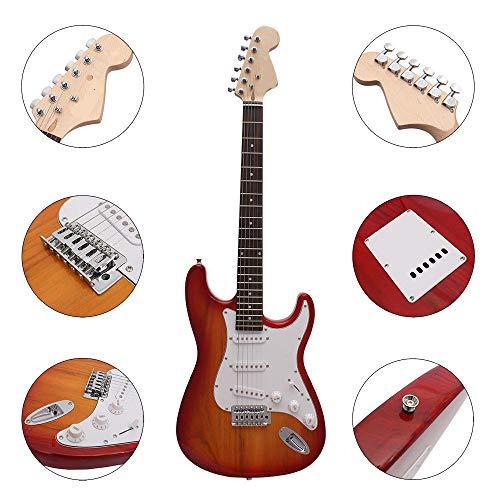 HO-TBO gitaar, 38 Inch 6 snaren elektrische gitaar met gitaar zak/snaren/Rocker/moersleutel/picks/band/kabel multi-color optioneel gebalanceerd en krachtige stem