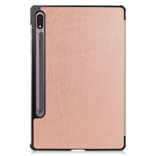Lobwerk Hülle für Samsung Galaxy Tab S7 SM-T870 T875 Smart Cover Etui mit Standfunktion und Auto Sleep/Wake Funktion Bronze