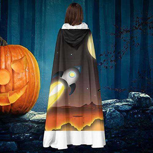NULLYTG Bitcoin Going To The Moon - Capa de Disfraz de Bruja con Capucha para Halloween